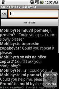 Česko anglické fráze - slovník pro Android