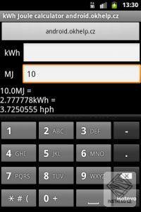 kilowatt na joule kalkulátor pro Android