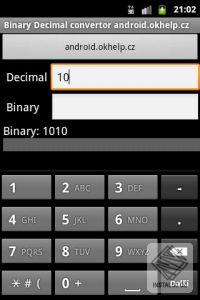 Binary to Decimal to Binary converter for Android