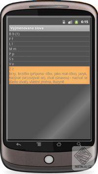 Vyjmenovaná slova Android software