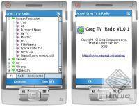Greg-TV & Radio pro Pocket PC a kommunikatory