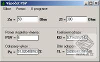 Výpočet PSV