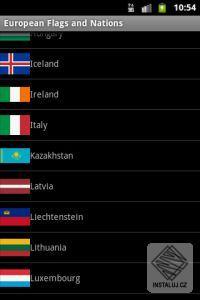 Vlajky států - Evropa - pro Android