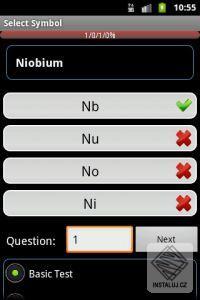 Periodická tabulka - Android software