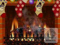 Christmas Decorated Fireplace Screensaver