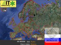 Slepá mapa Evropy - Zeměpis