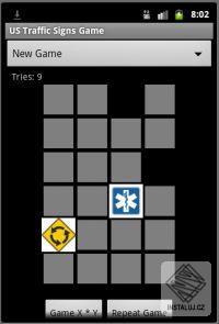 Dopravn� zna�ky v USA - Pexeso pro Android