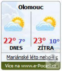 Miniaplikace e-Počasí.cz