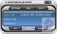 Chronograph Atomic Time Clock