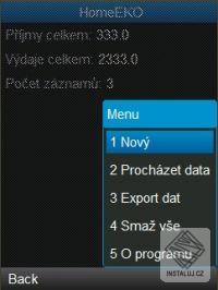 Mobilní aplikace HomeEKO