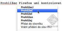 České slovníky pro kontrolu pravopisu