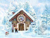 Christmas House Clock screensaver