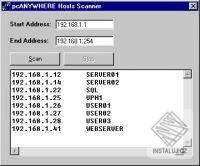 pcANYWHERE Hosts Scanner