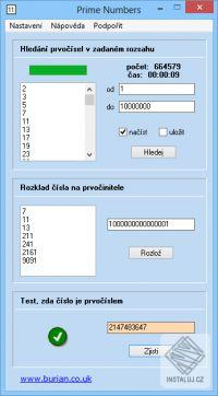 Prime Numbers - Instalace
