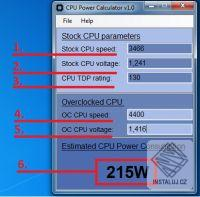 CPU Power Calculator