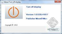 Turn off display