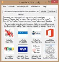Savvy DOCX Recovery