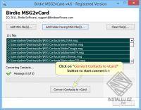 Birdie MSG to vCard Converter