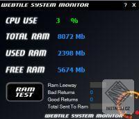 Webtile System Monitor