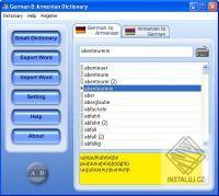 German & Armenian Dictionary