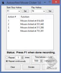 Autosofted Mouse Clicker