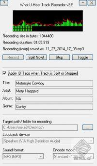 What-U-Hear Track Recorder