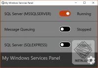 My Windows Services Panel