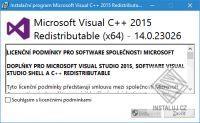 Součásti Visual C++ pro Visual Studio 2015