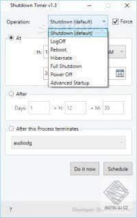 SK Shutdown Timer