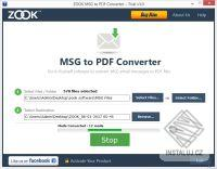 ZOOK MSG to PDF Converter