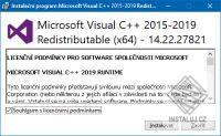 Součásti Visual C++ pro Visual Studio 2015, 2017, 2019
