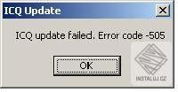 Oprava ICQ 5.1 Error 505