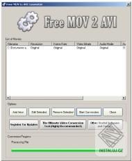 Free MOV 2 AVI