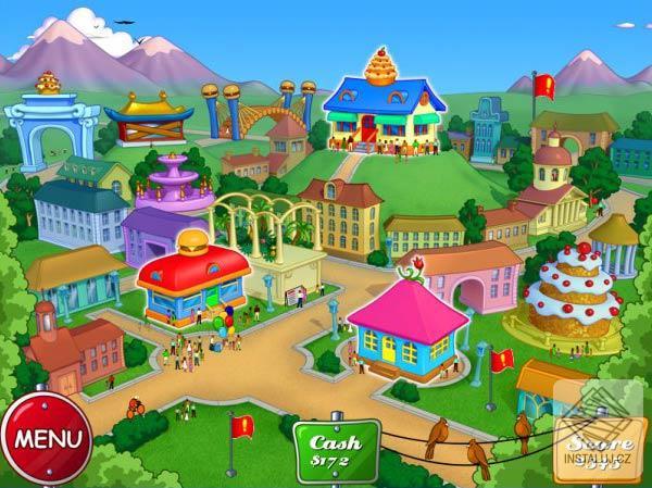 Играя в игру Cake Mania 4: Main Street, Вам предстоит помочь Джилл и ее бли