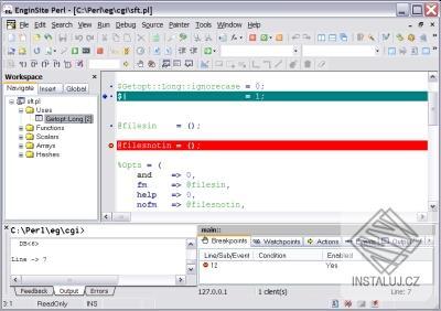 EngInSite Perl Editor