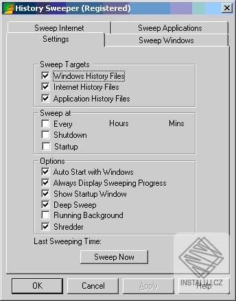 History Sweeper