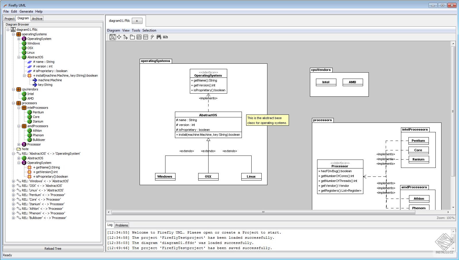 Firefly UML