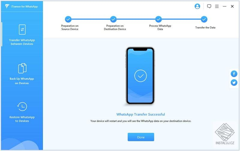 iMyFone iTransor for WhatsApp