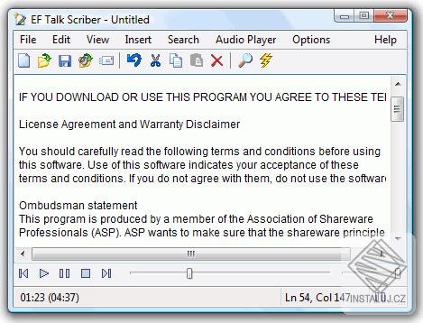 EF Talk Scriber